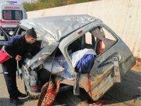 Çankırı - Ankara karayolunda kaza! 1 Ölü, 2 yaralı