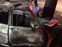Isparta'da ağaca çarpan fotoğrafçı yanarak öldü!