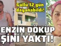 Diyarbakır'da evli olduğu kadını benzin dökerek yaktı!