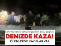 Sahil Güvenlik botuyla göçmenleri taşıyan bot çarpıştı! 4 Ölü