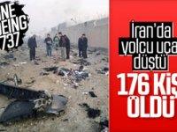 İran'da 176 kişi taşıyan yolcu uçağı düştü! Kurtulan yok