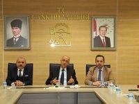 """Çankırı'da Vali Aktaş başkanlığında """"deprem"""" toplantısı!"""