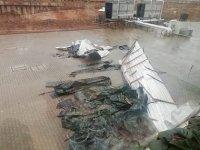 Çankırı'da yeni Valilik binasının çatısı uçtu!