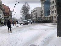 Kar yağışı, Çankırı'yı bembeyaz yaptı