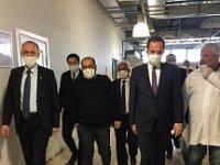 Çankırı'da 'sosyal mesafe'yi hiçe sayan Çivitcioğlu ve Vali Aktaş!