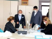 Çankırı Belediyesi maske üretiminde ikinci yüz bini de tamamladı!