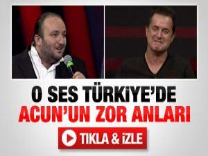 O Ses Türkiye'de Acun'un zor anları